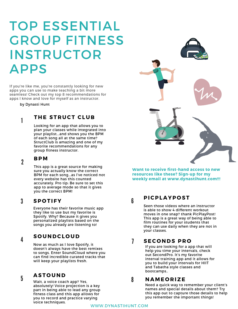 2019 Essential Group Fitness Instructor Apps — Dynasti Hunt