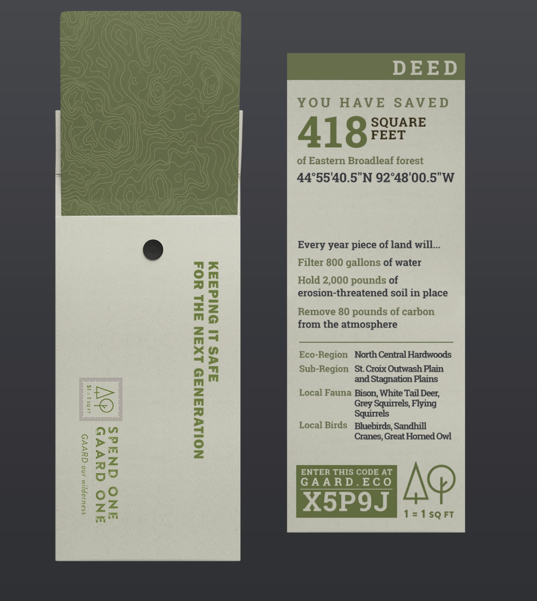 Deed design by Alex Nee