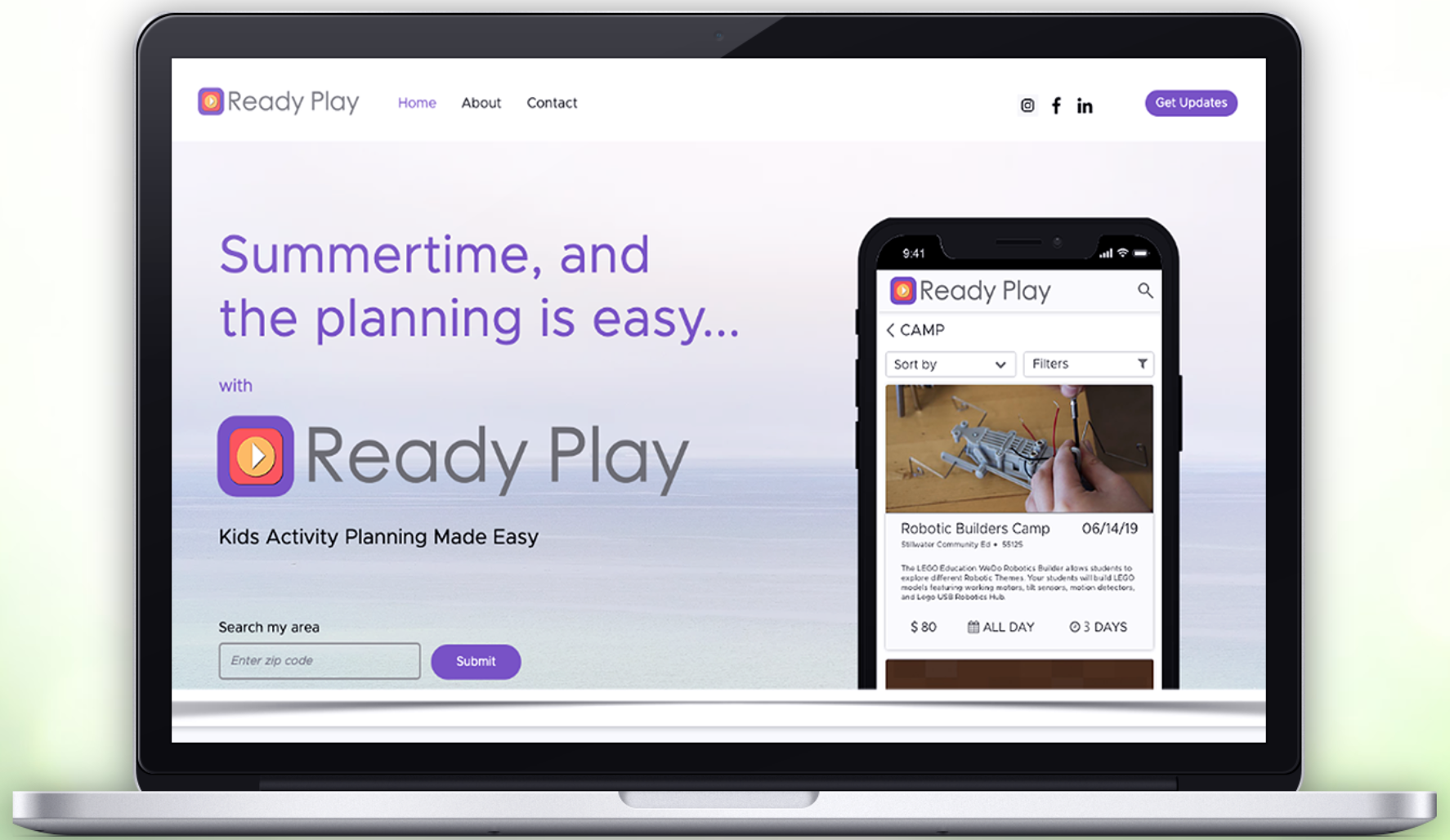 Ready Play's web portal