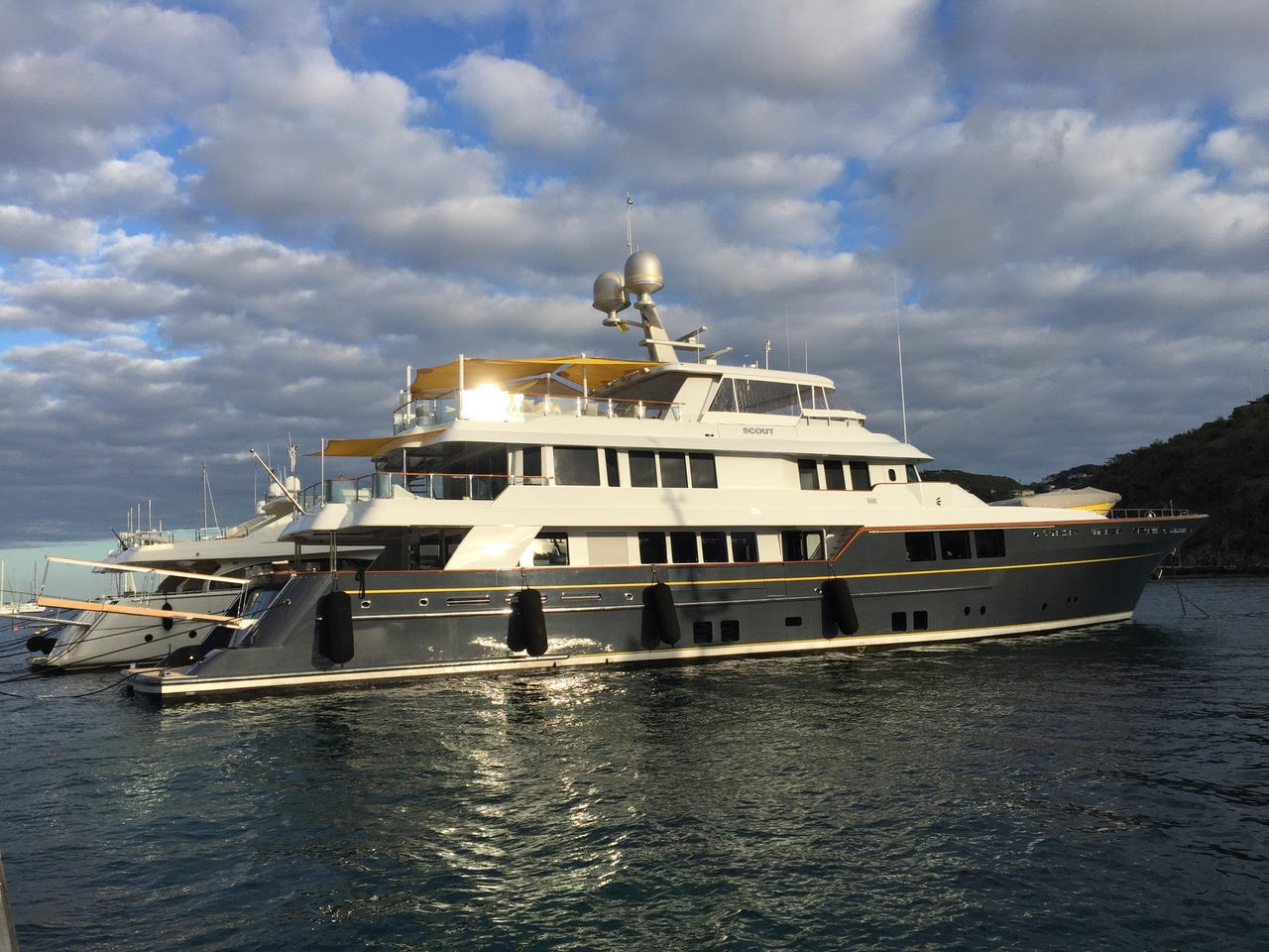"""SCOUT (Now CALLIOPE) Represented buyer. 45.01M / 147'08"""" motor yacht by RMK Marine."""