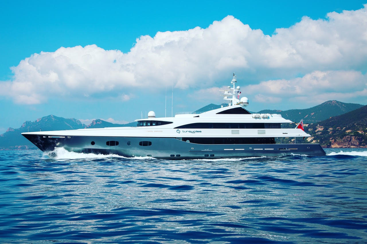 """TURQUOISE Represented seller. 55.4M / 181'09"""" motor yacht by Proteksan-Turquoise, Dubois design."""
