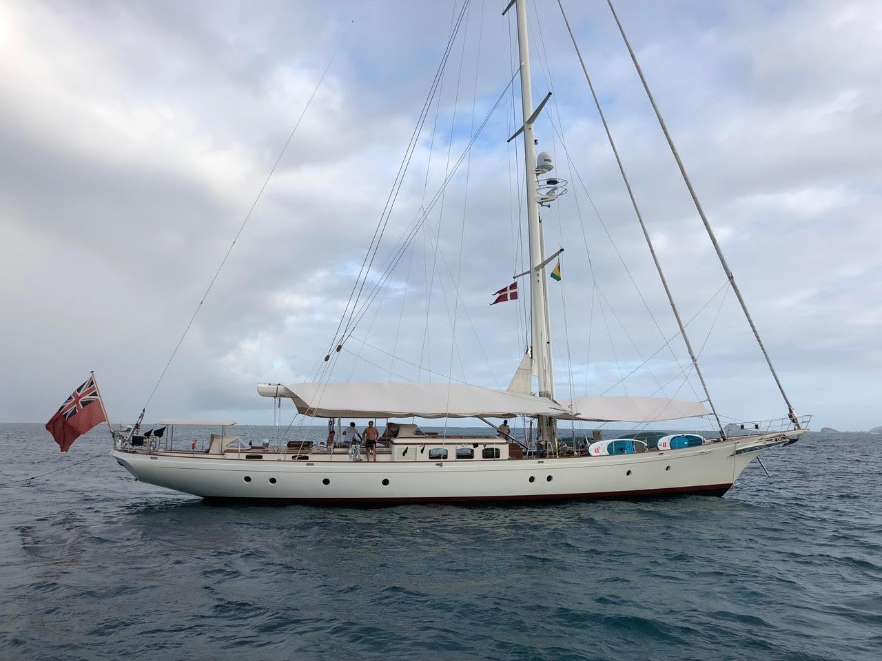 "FOFTEIN 30.21 M / 99'01"" sailing yacht of German Frers design from Royal Huisman Shipyard."