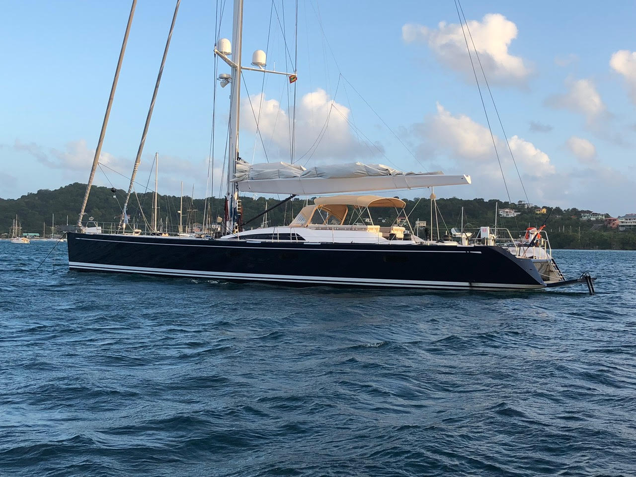 """LEONARA (ex. SOLLEONE) Represented buyer and seller on 27.77 M / 91'01"""" Sailing Yacht by Nautor's Swan, German Frers design."""