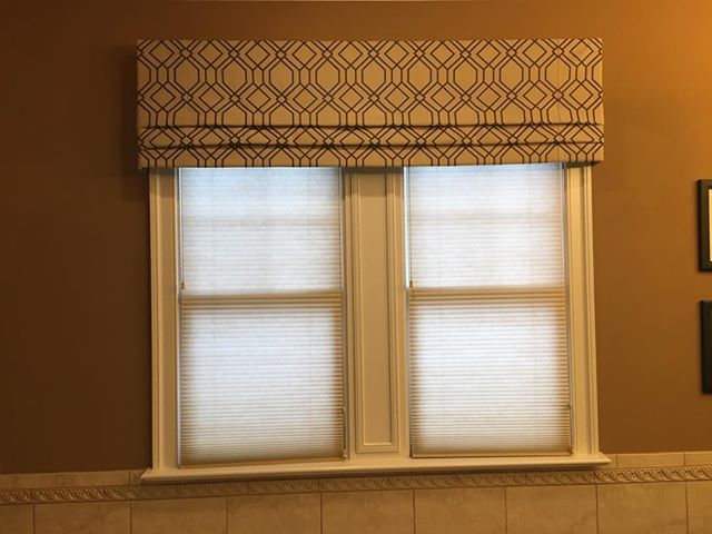 It's truly wonderful when a client is so happy that they send you photos of your work the day after! #customwindowtreatments.  #customvalances  valances