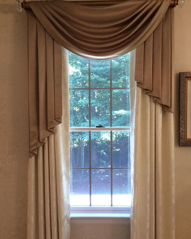 Being innovative is truly great, but it's such a joy to create classic window treatments!
