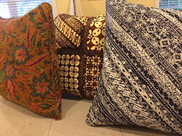 It was such a thrill to make these lovely pillows, and 10 more, with fabrics from Turkey!