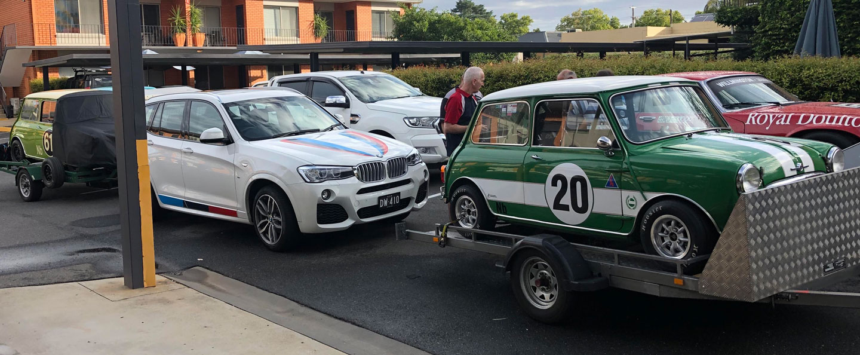 Starting grid at Wangaratta Parkview Motel on Wednesday.