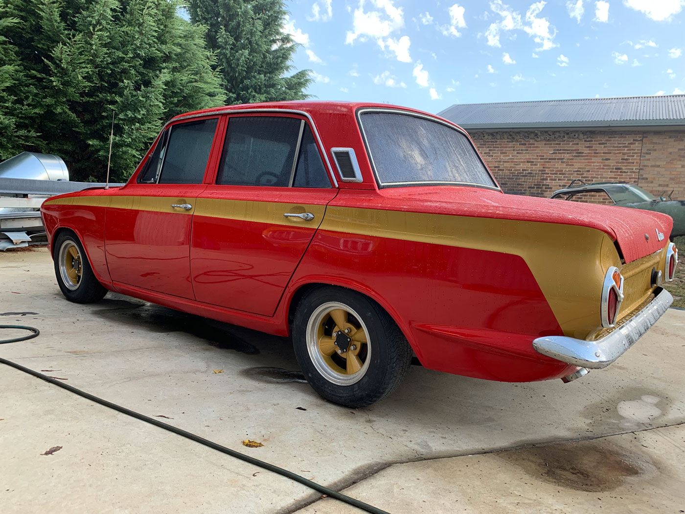 1965 Mk1 Ford Cortina, currently being built up as a race car.