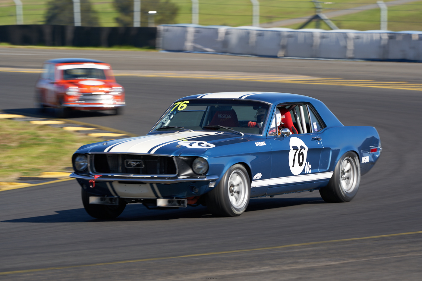 David Stone in the Mustang