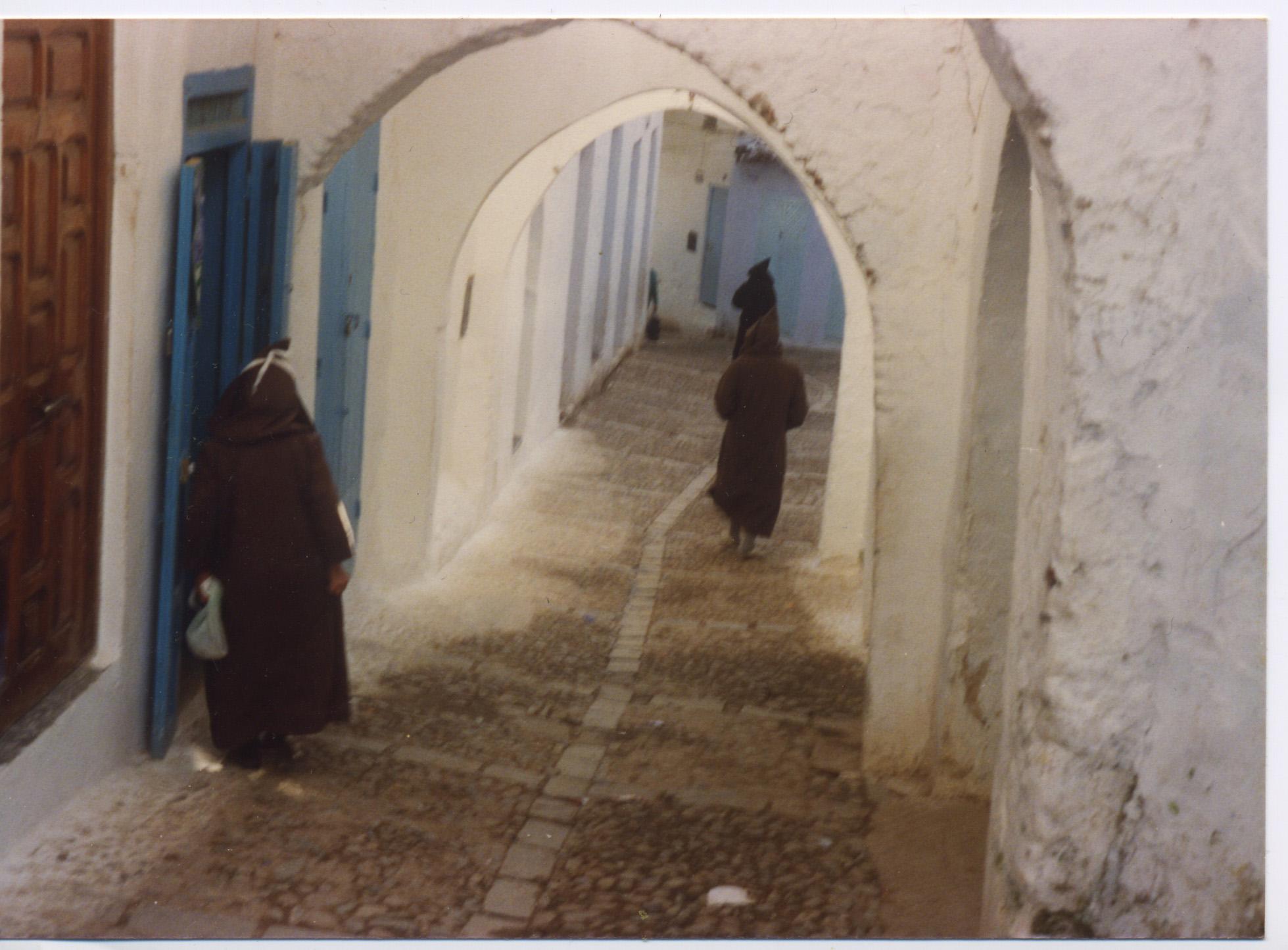 A village scene in Morocco