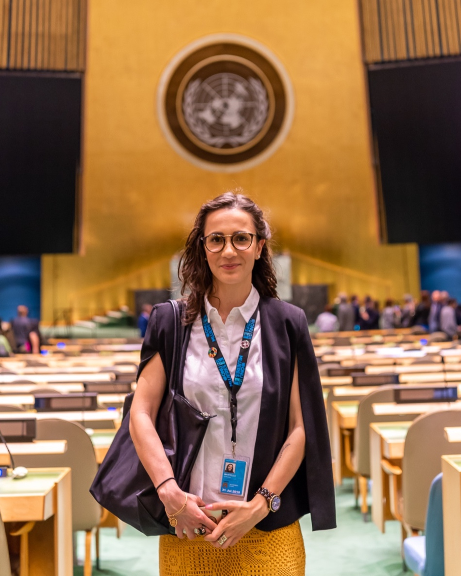 Ludovica at the General Assembly in June 2018 during her experience at UN Women in New York.