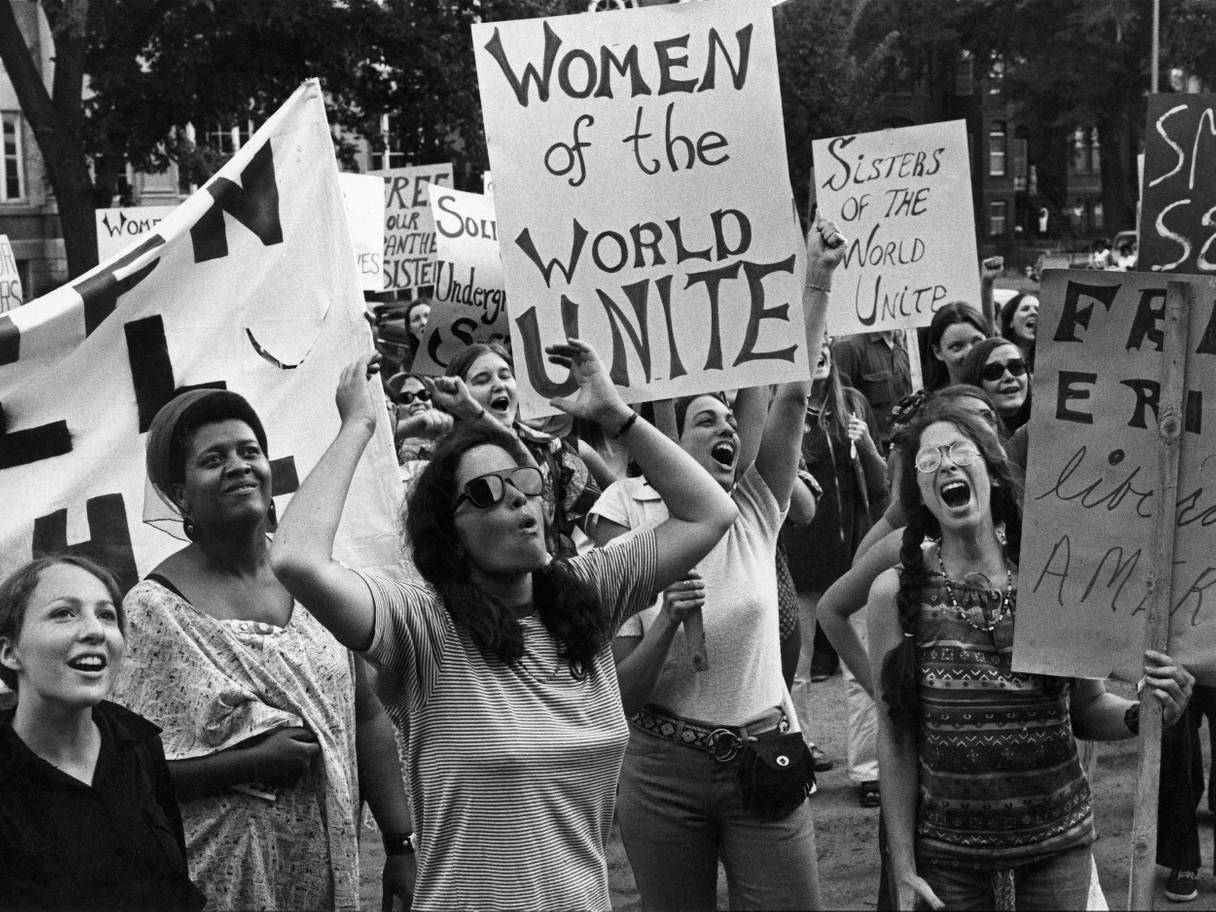 The women's liberation movement march in Washington, August 1970. Picture: Getty