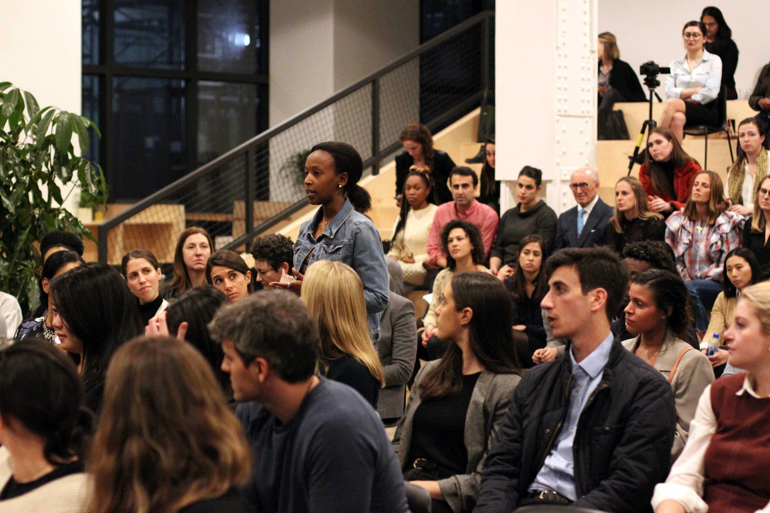 The engaged audience at Company's events plays a key role in the conversations. Picture: Nick Weinberg