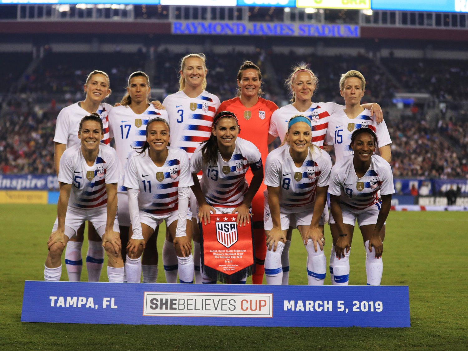 Members of the U.S. women's national soccer team filed a lawsuit in March 2019 against U.S. Soccer, accusing it of gender discrimination.   Mike Ehrmann/Getty Images