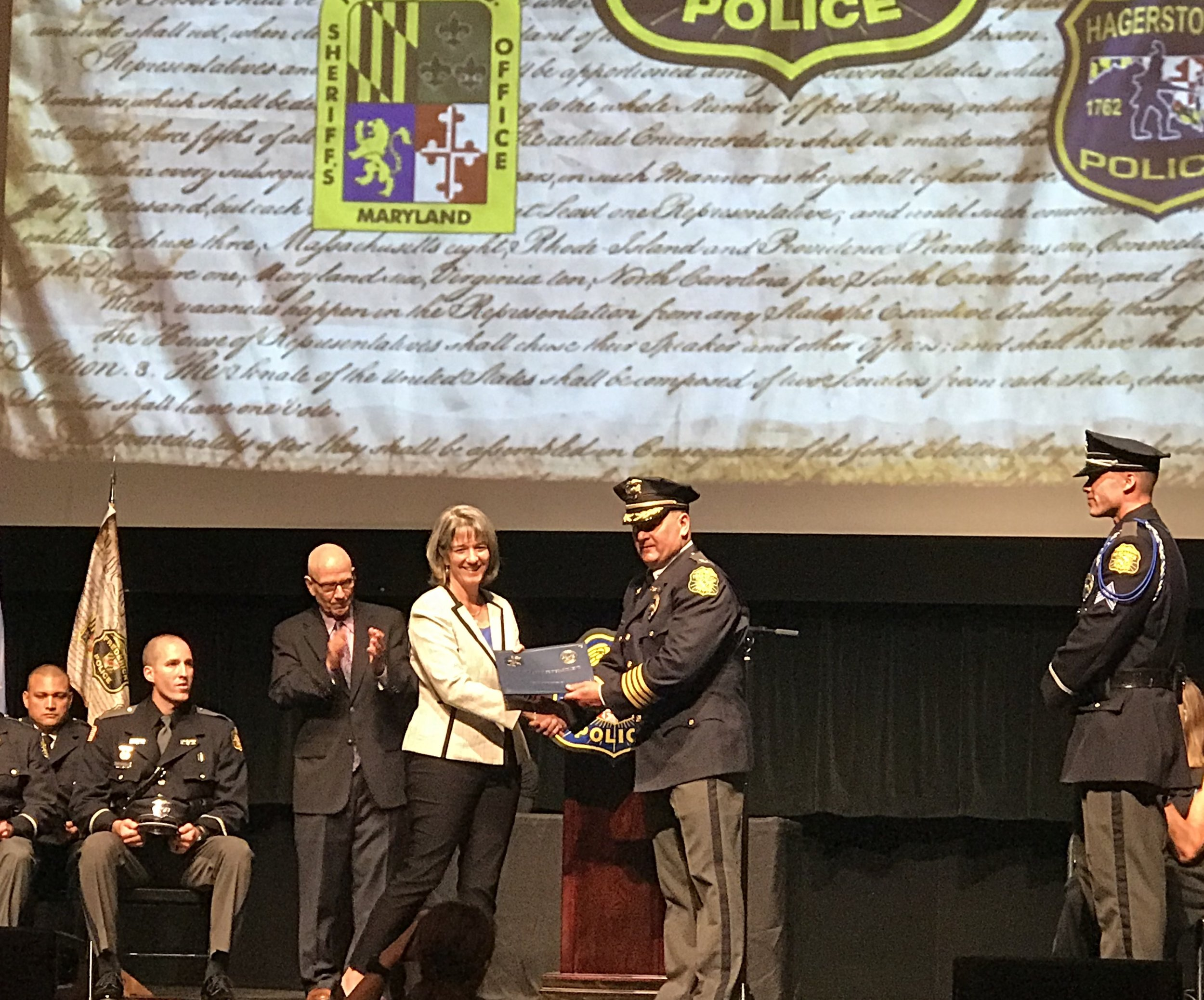 Citizen Award presented by Chief Hargis