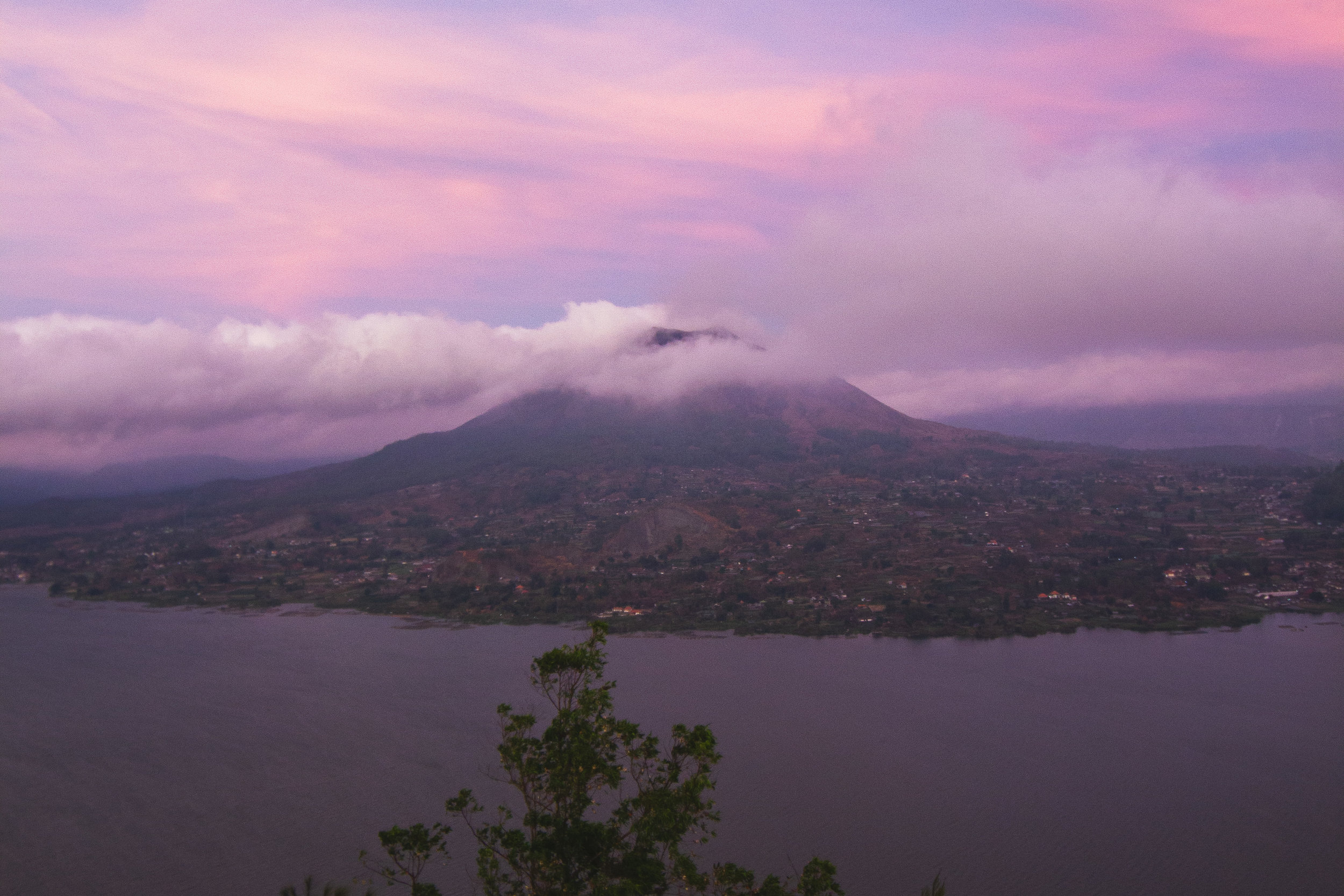 Mt. Batur obscured by clouds