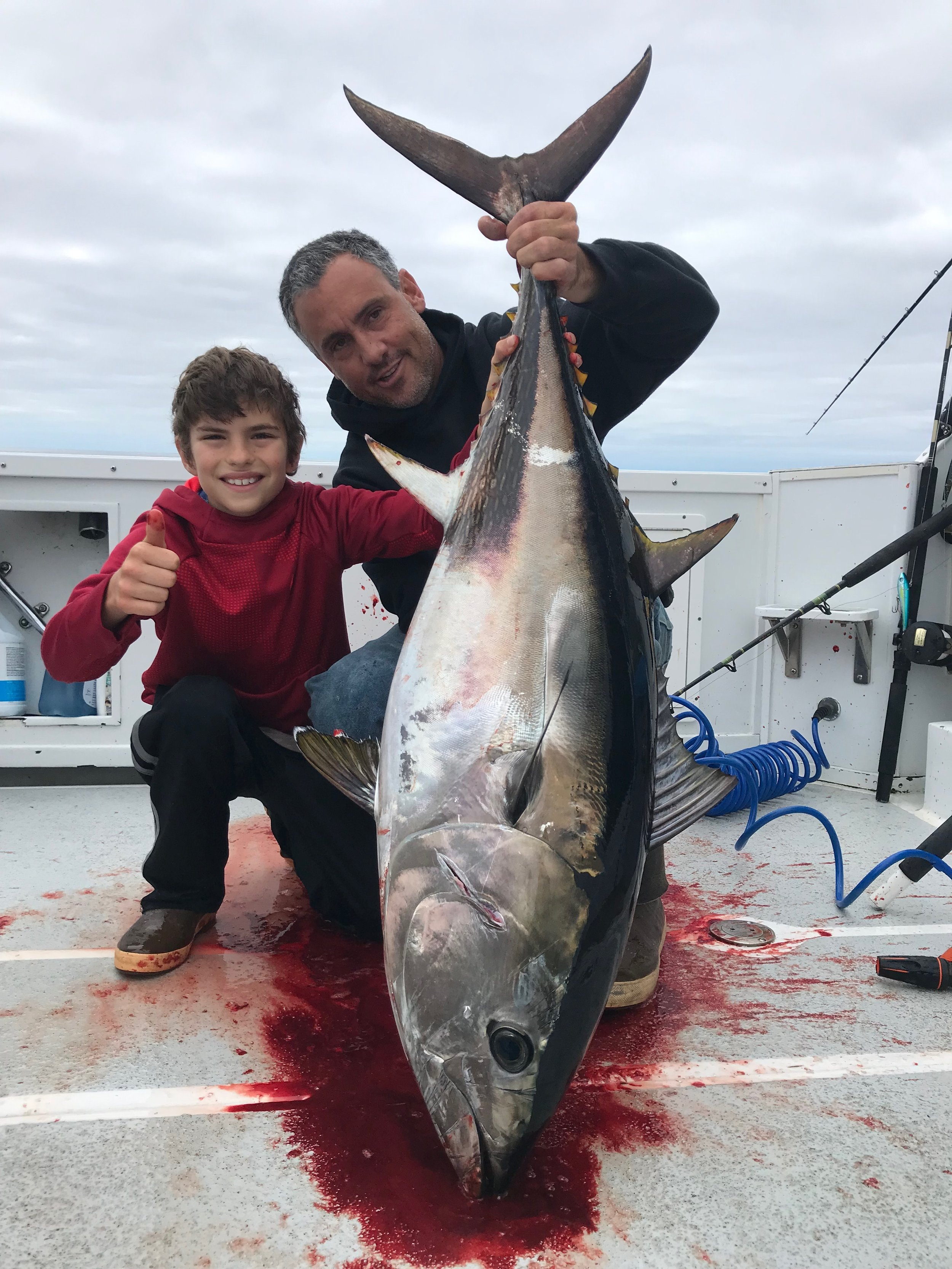 - 6-18-2019Uncle Tony and nephew got into some quality sized Bluefin on the sinker rig!!