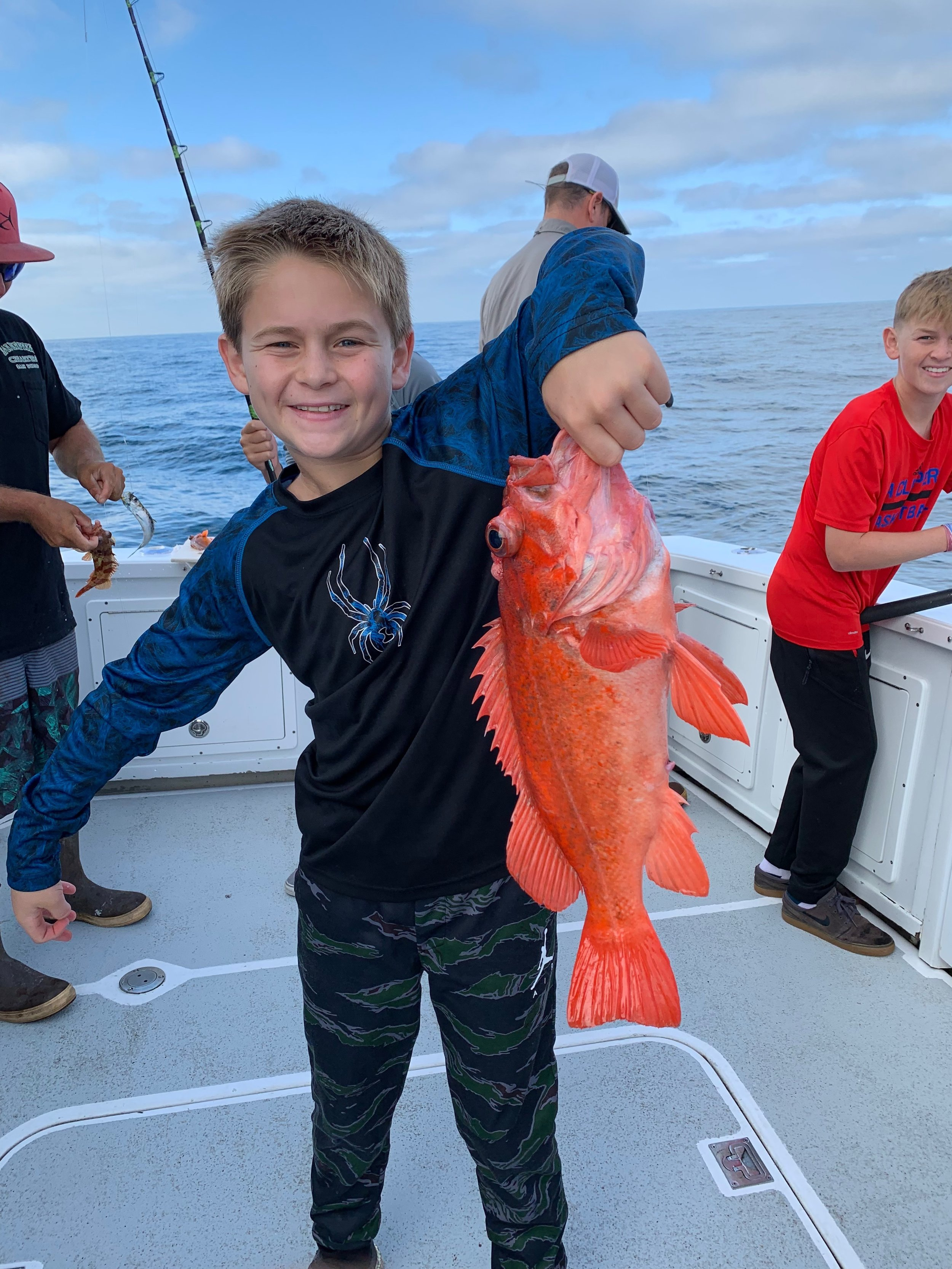 - August-8-2019The kids were halfing a blast picking away at Red Rockfish on their AM Half Day!