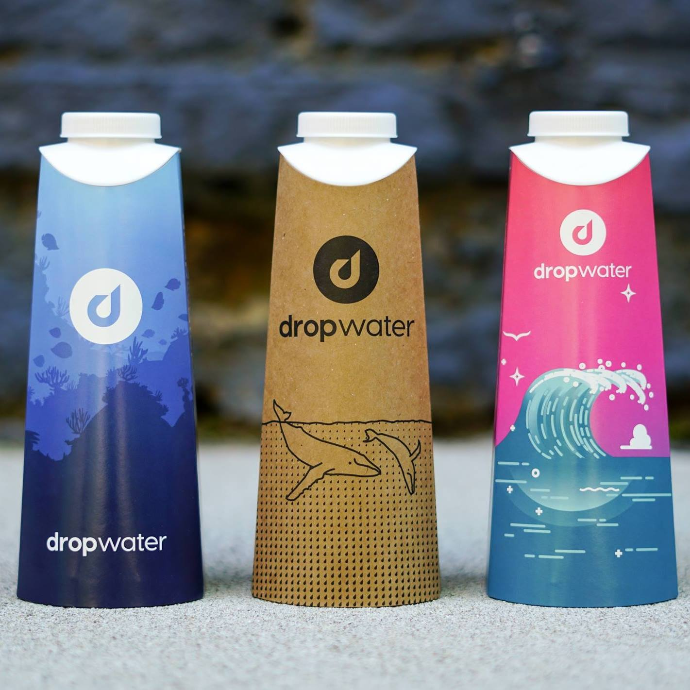 Different styles of Drop Bottles