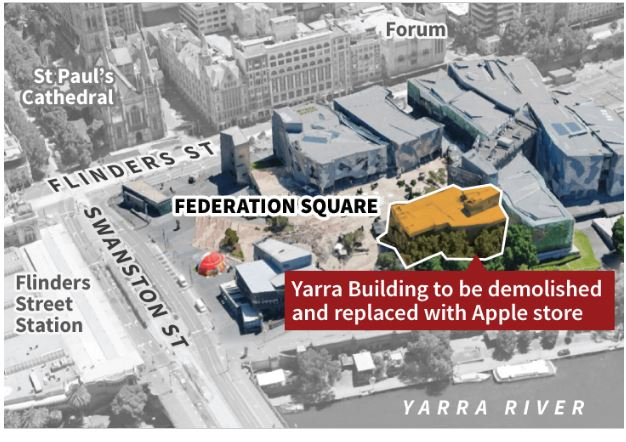 apple store at federation square
