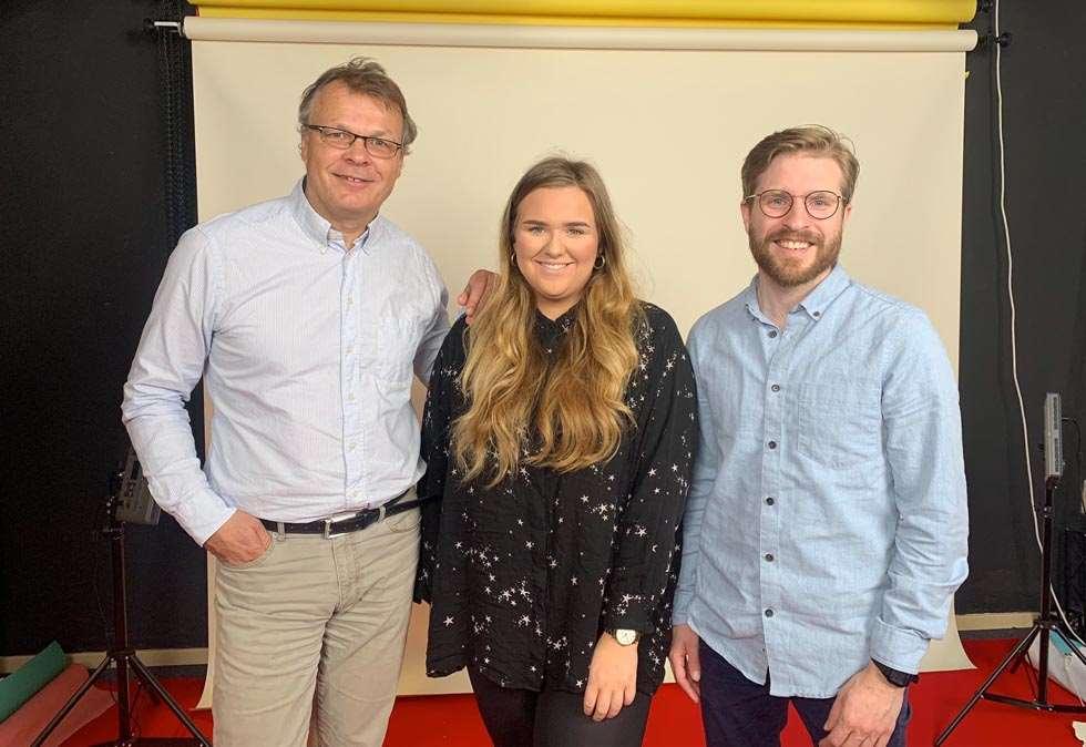 Inngår samarbeid:    Nordic Screens-sjefen Nils Ketil Andresen inngår samarbeid med Inzpire.me og Mats Lyngstad. Her sammen med talentsjef Maria Sanni i Nordic Screens.