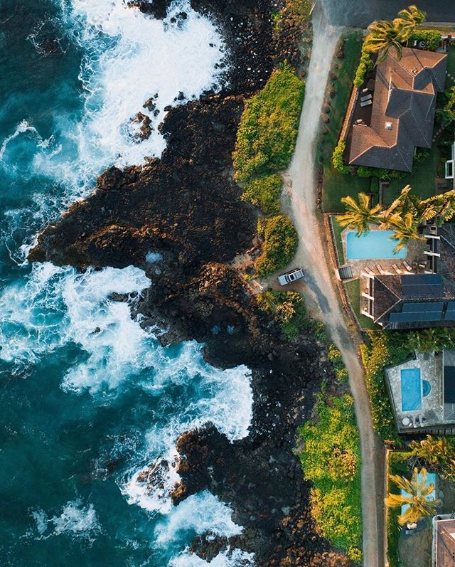 Aloha, fellow Kauai real estate lovers 😎  Kicking off this week with a killer aerial shot of some of the oceanfront property along Pe'e road in Poipu, close to Brenneke's beach.   Imagine sitting on the lanai and watching whales, turtles, and dolphins swim past...other than me, who else would like to know when one of these comes on the market again? . . 📷 @tyler_ka . #kauairealestate #kauairealtor #kauai #ownonkauai #ownonkauairealestate #alohalife #islandlife #islandliving #kauaisouthshore #kauainorthshore #kauaiwestside #kauaieastside