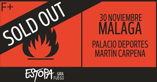 @estopaoficial  hace un nuevo SOLD OUT en Málaga meses antes de comenzar su Gira Fuego para celebrar el XX Aniversario.   ¡No te quedes sin tu entrada! 🎟️  #Estopa #GiraFuego #SoldOUT #Málaga #Concierto #HerediaProducciones