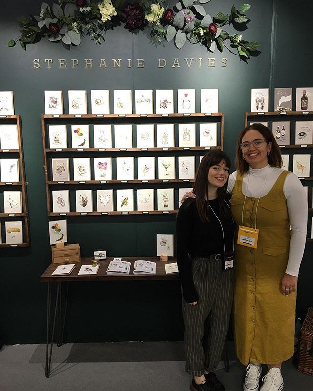 We're all set up and ready to go at @topdrawerlondon ! Come and pop in for a chat at stand U21 in the greetings & stationery section. We've gone for a lovely dark pine colour this time 🌲 I think it's my favourite so far!