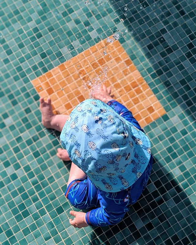 Waterpark fun, Ibiza • • • • • #ibiza #spain #waterpark #swimming #swimmingpool #water #fountain #colour #tiles #mosaic #color