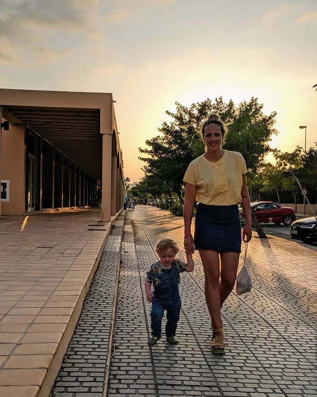 Go hard or go home (we're on our way home) • • • • • #ibiza #spain  #summer #sun #sunset #family  #fam #eveningwalk