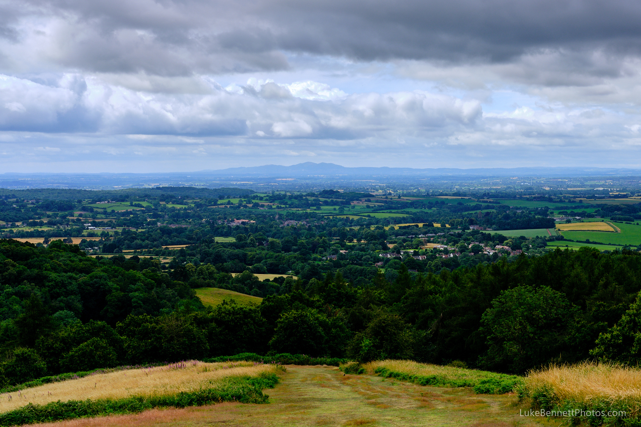 View from the highest point of the Clent Hills