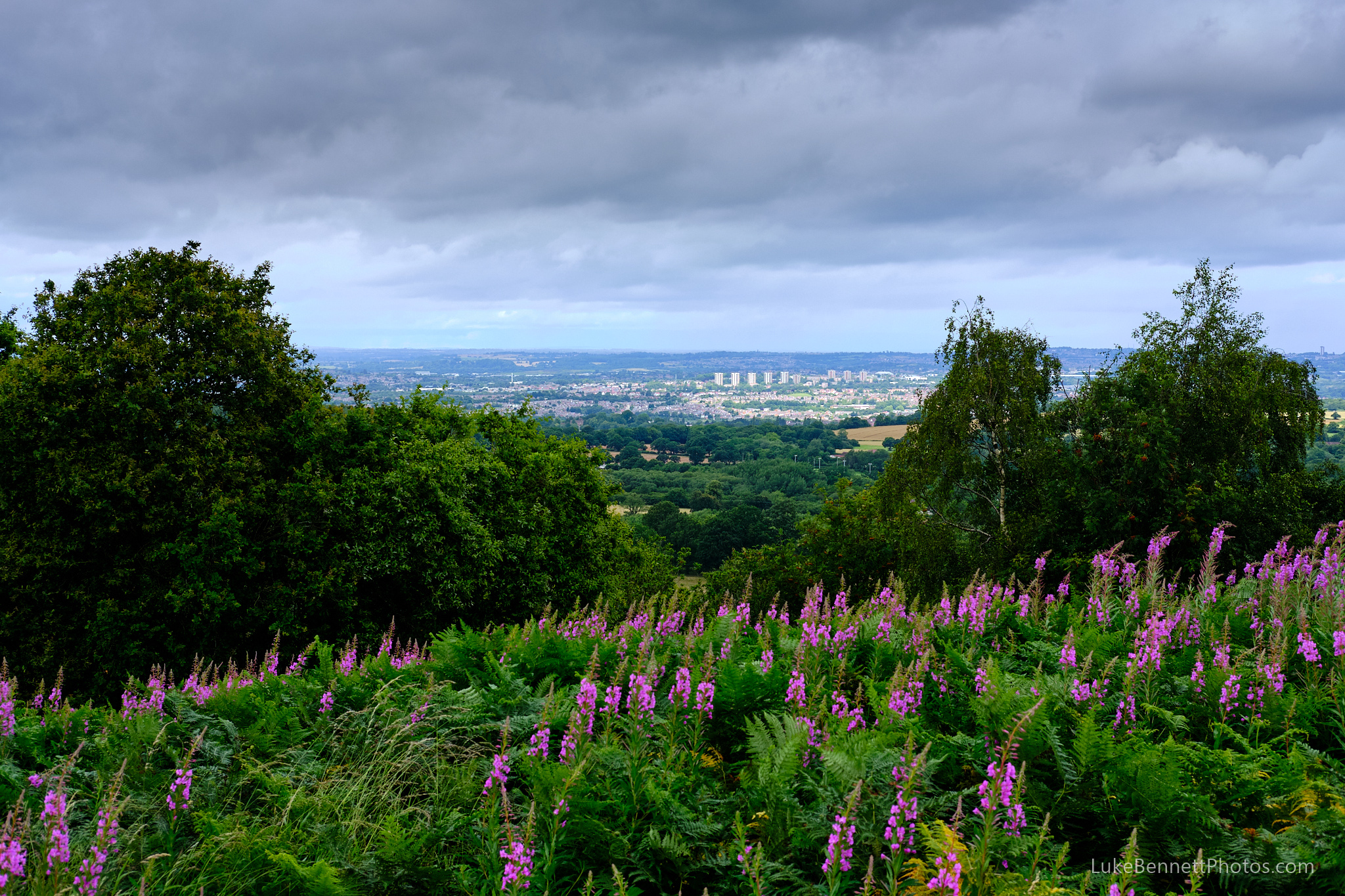 The view of Stourbridge from the Clent Hills