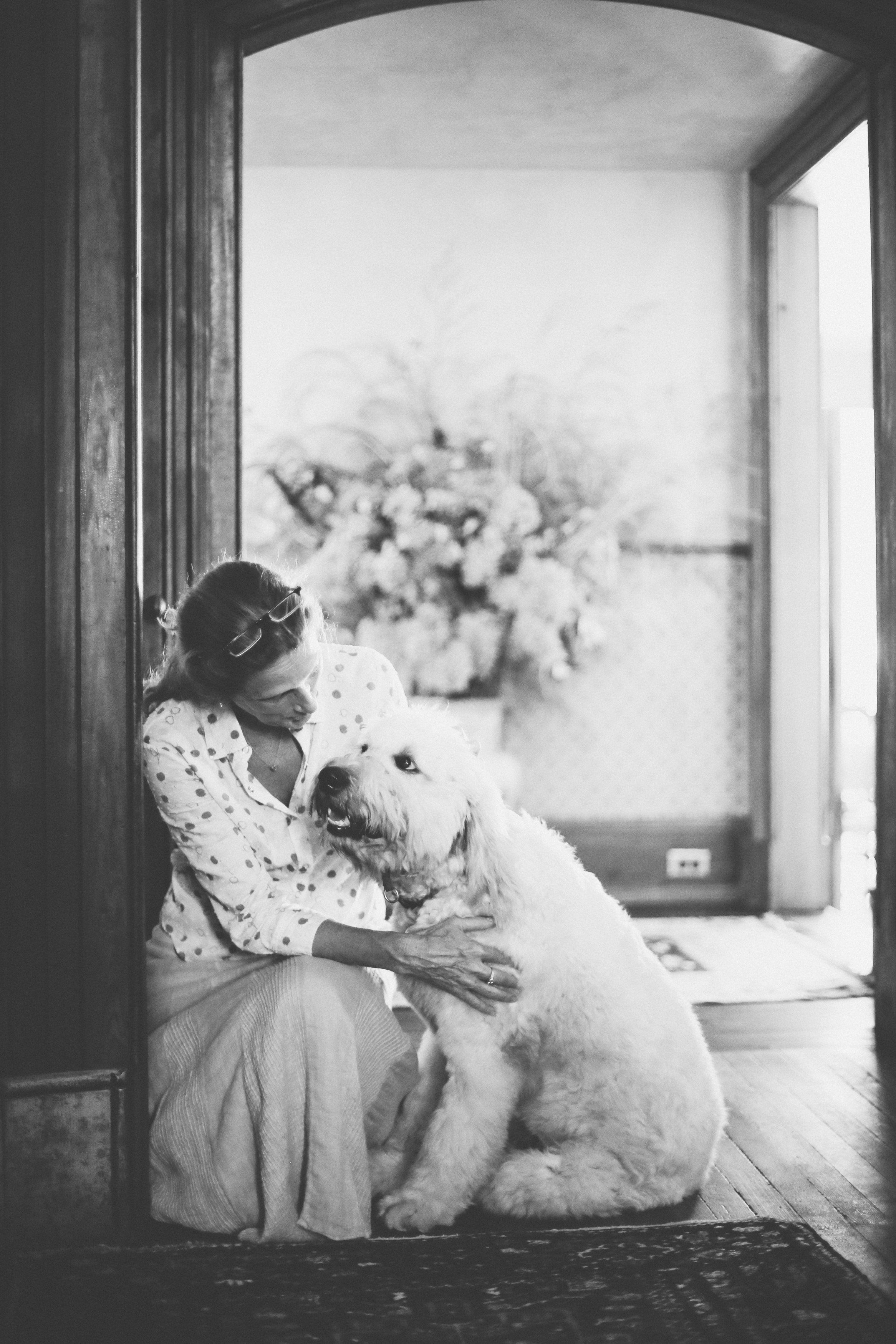 Jan Glennie-Smith with her beloved, Tino