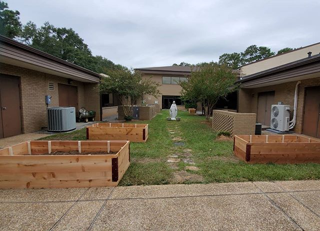 Progress! We spent yesterday building raised beds to use as an outdoor classroom at my son's school. Now to keep filling with soil for yummy vegetables and edible flowers. #olvfamily, #alabamaoutdoorclassroom, #blueroosterfarmstand, #knowyourfarmer, #knowyourfarmerknowyourfood