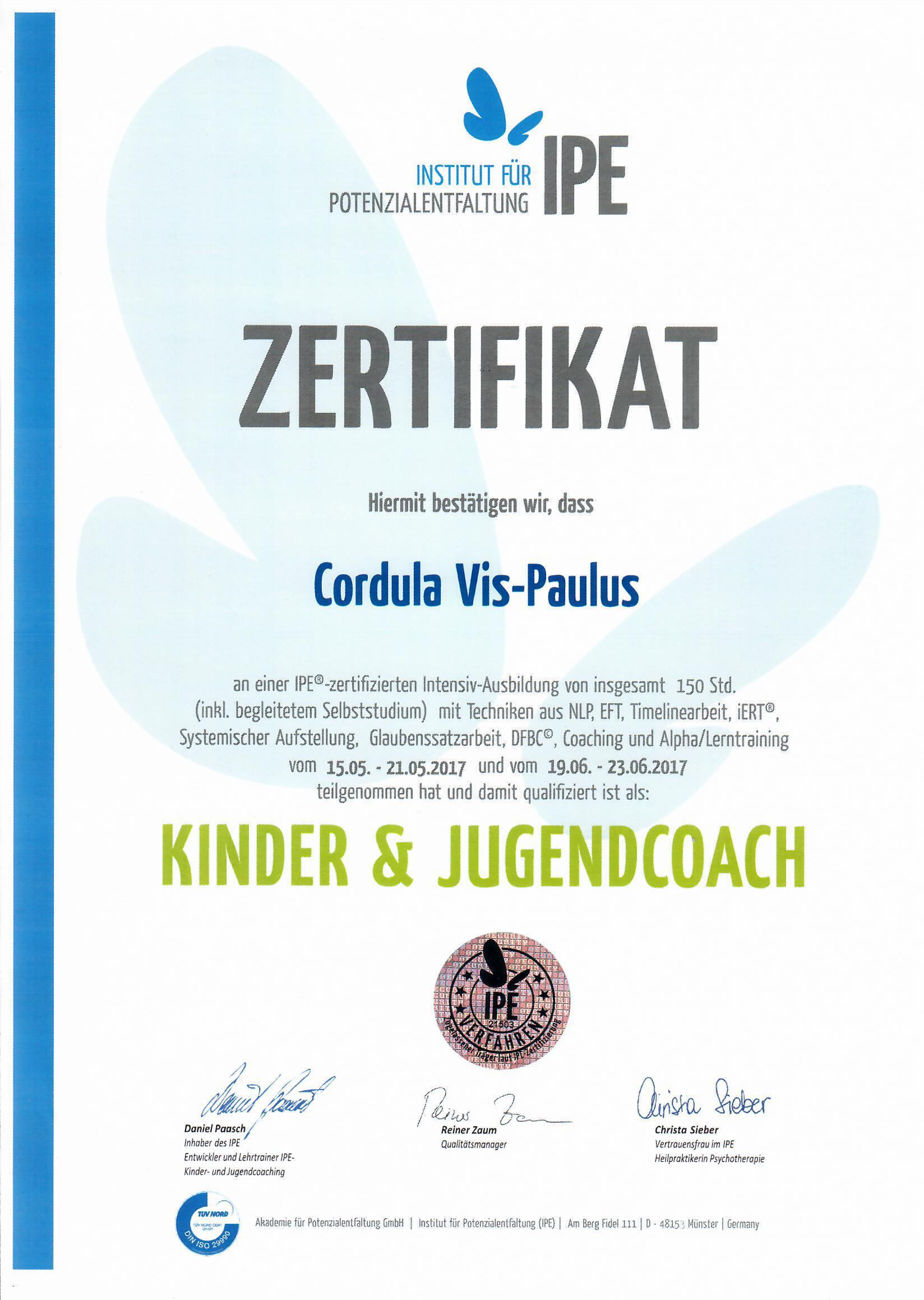 Kinder & Jugendcoach – Institut für Potenzialentfaltung