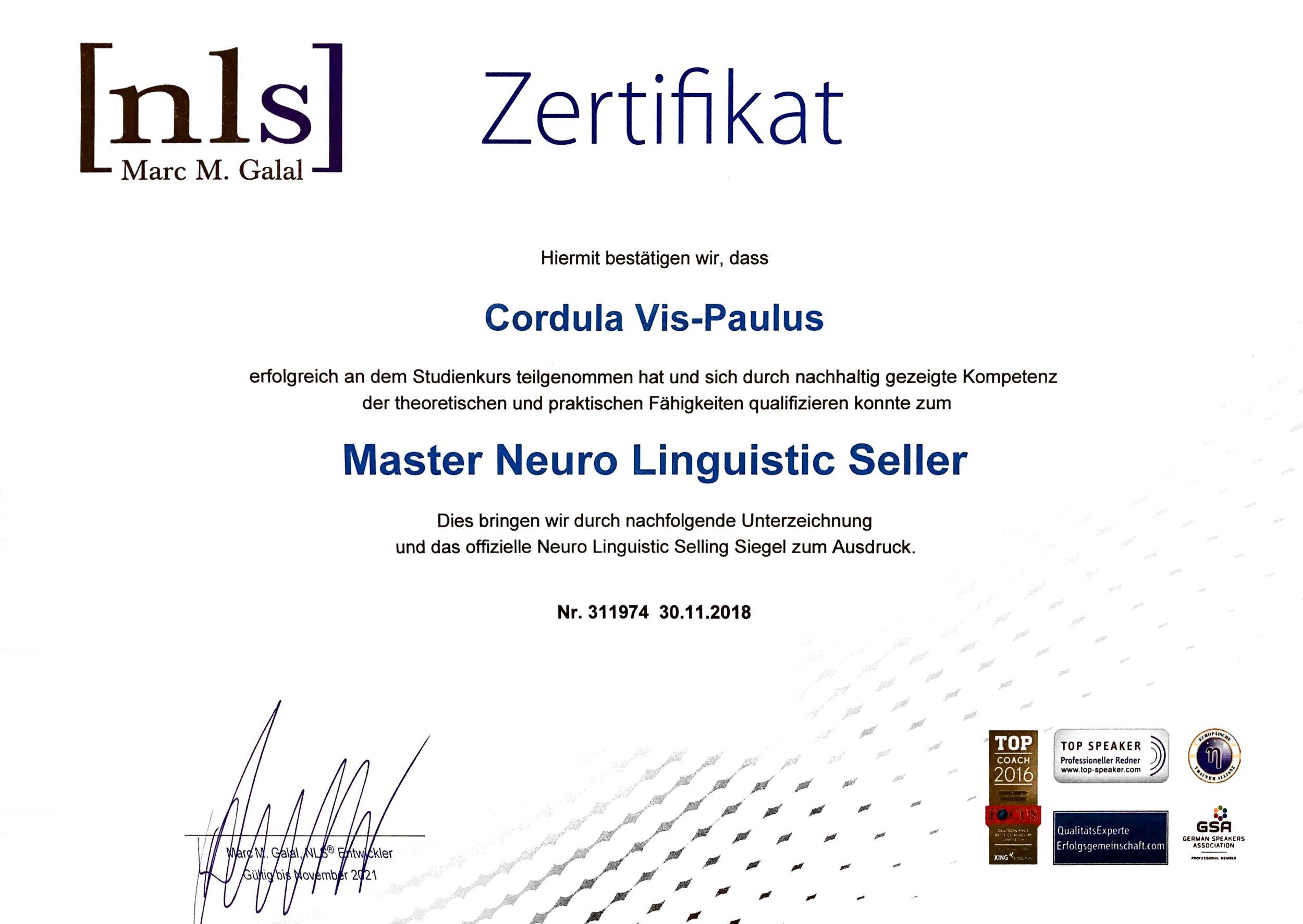 Master Neuro Linguistic Seller – NLS