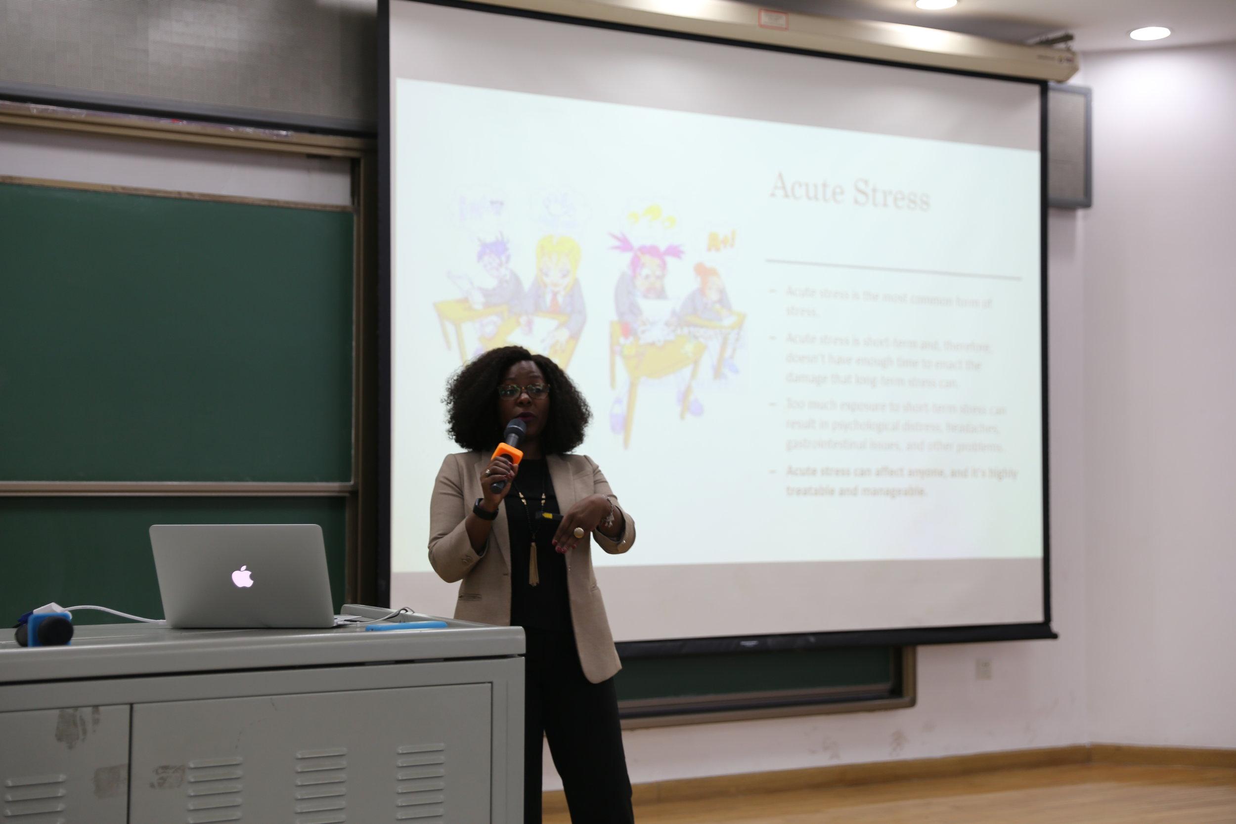Highschool workshop @ Tsinghua international school - Students & Stress Management