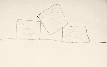 Jennifer's daughter's illustration of the Tofu Nuggets