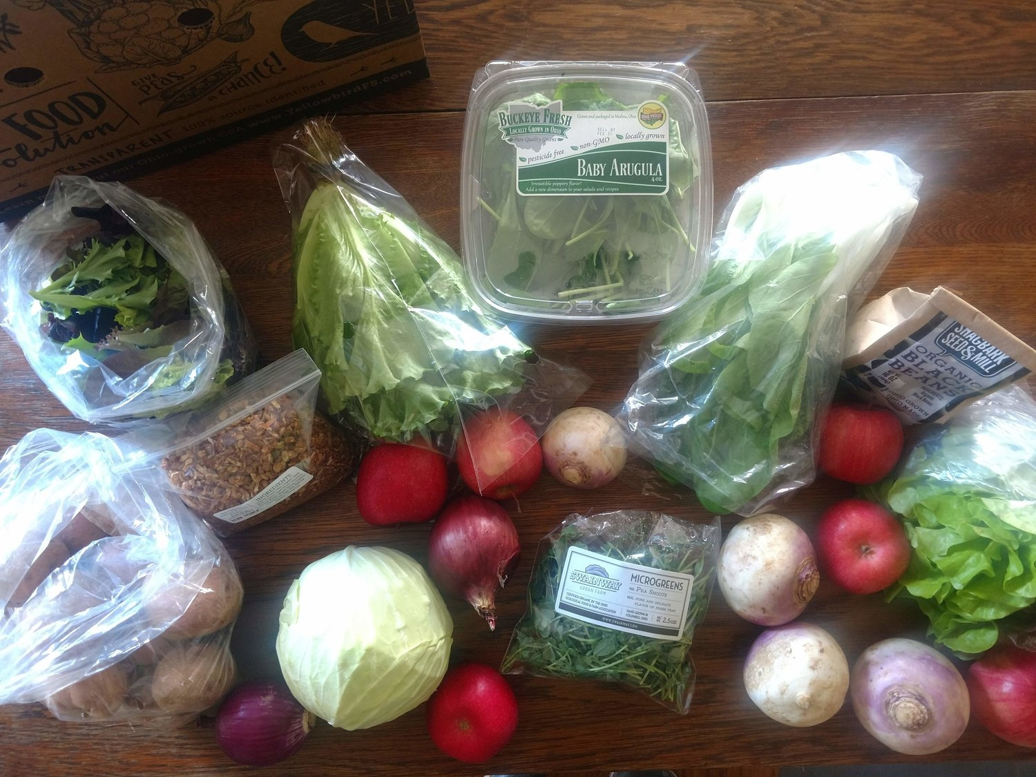 Week 2 CSA box of the Local Foods Challenge