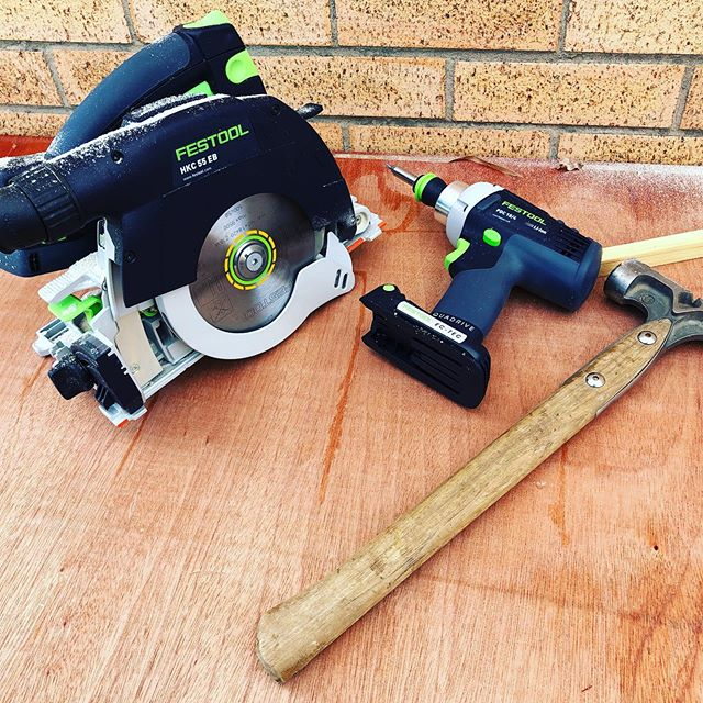 Trying out some new tools on site today too posh for site?🤔 time will tell track saw is super accurate with the adjustable angle track for roofing #festool #carpentry #woodworking #bespoke  #accurate #tools