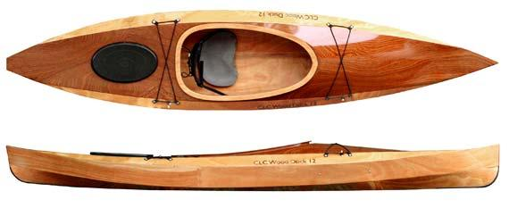 Photo Courtesy of Chesapeake Light Craft. Wood Duck 12 is pictured with Okoume (Blonde) body and a Sapele (brown to reddish/brown) deck.