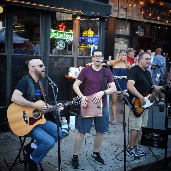 Tomorrow night, get ready to rock one more time on Third Avenue at the final @summerstrollon3rd of 2019! Here's a #ThrowbackThursday photo of a band doing just that outside @kettleblackbar during last week's stroll. Thanks once again to @tom_hilton_bklyn_photog for the photo! . . . . . #TBT #throwback #livemusic #band #bayridge #brooklyn #summer #summerstroll #summertime #goodtimes #rock #rocknroll #guitar #acoustic #thirdavenue #thirdave #3rdave #mo3a #shopdinestroll