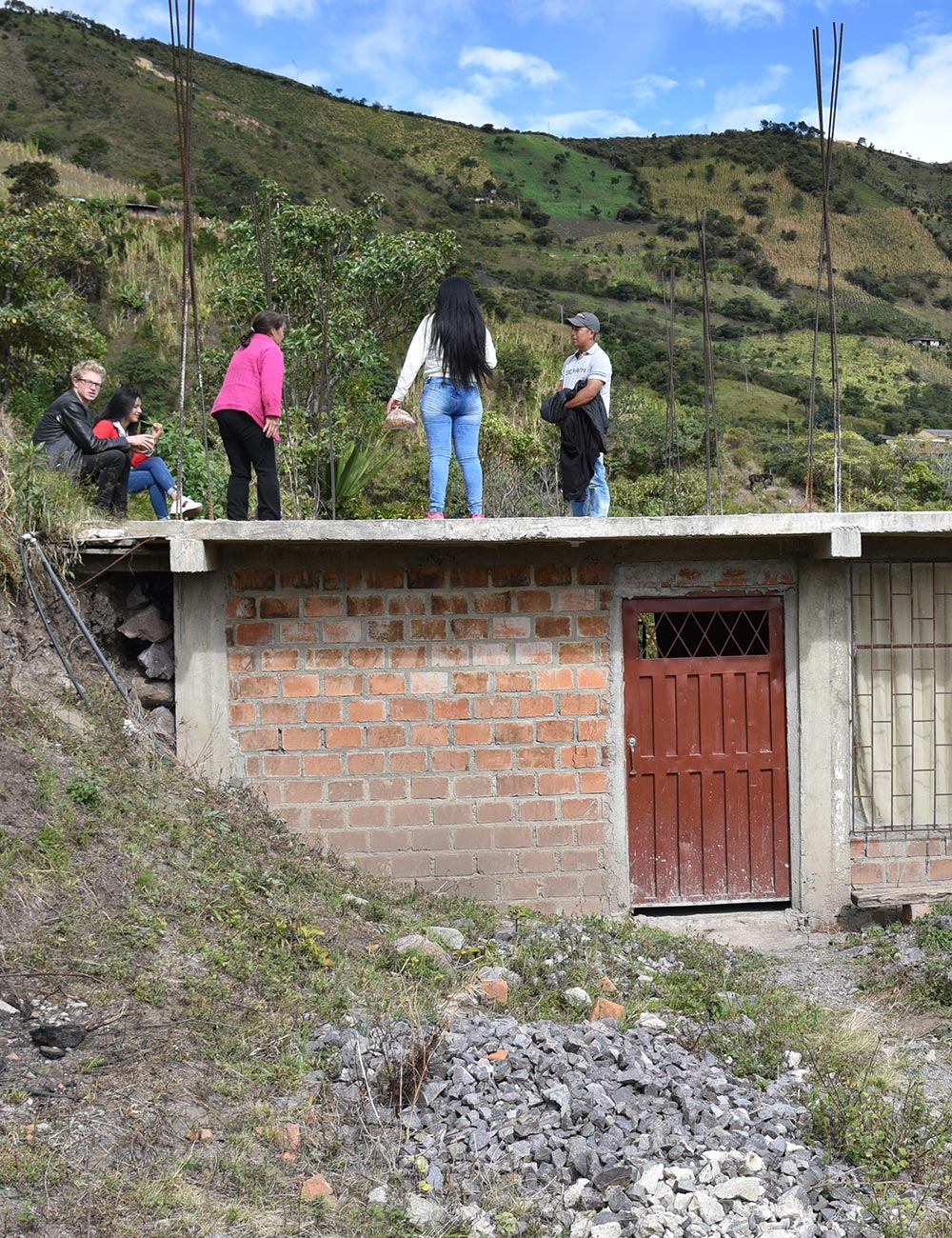 Housing Restoration - Resguardo Inga De Aponte, Narino, Colombia, 55 Beneficiary families, 62,150 lbs of cement + 68,850 bricks + 890 steel rods + 437 sheets of roofing + 5 complete bathrooms + other assorted materials