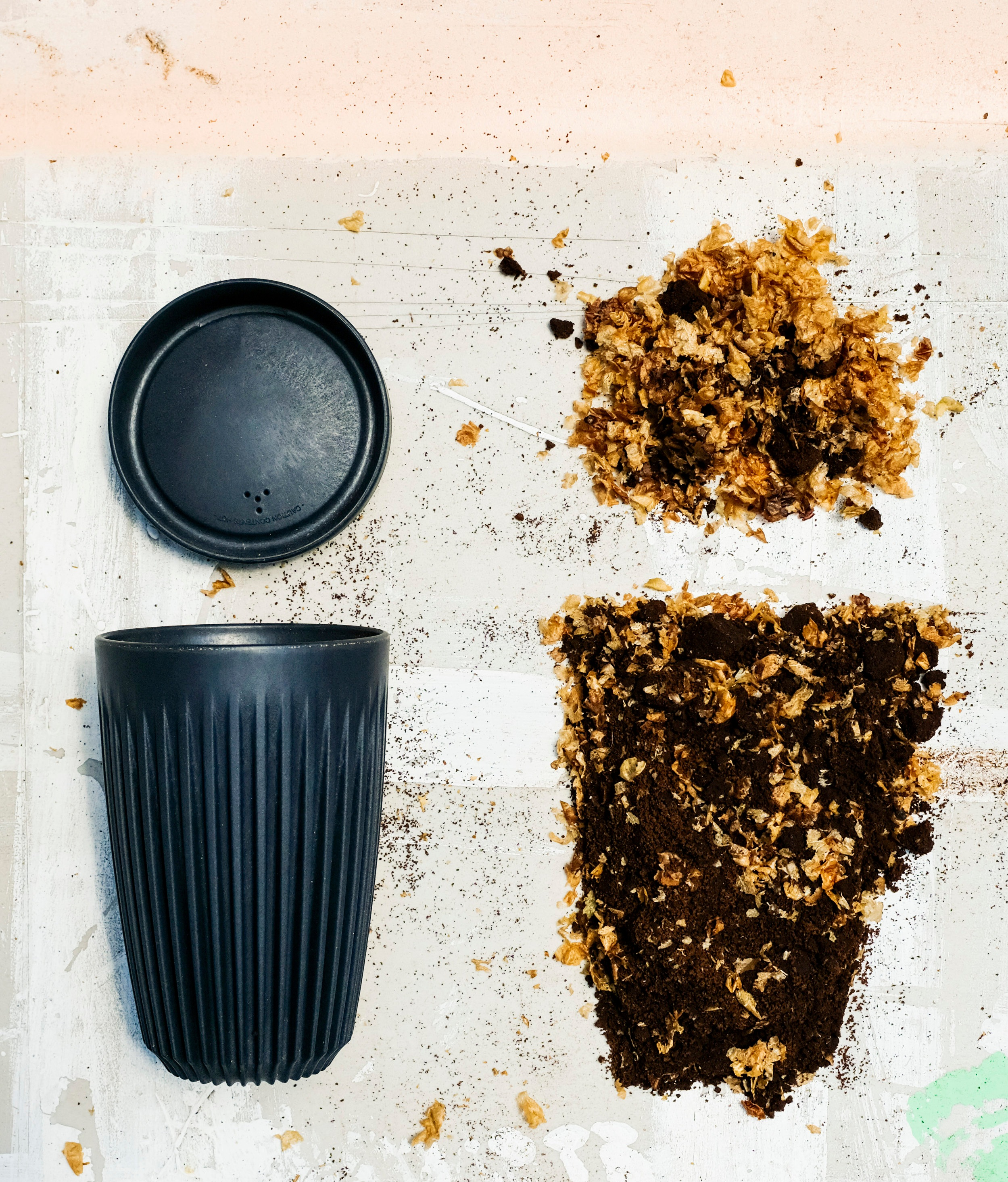 How HuskeeSwap works. - Buy a durable, elegant Huskee cup (made with upcycled coffee husks) at Think Coffee (or any place where Huskee cups are sold).Bring it back to us after use.We will exchange it and serve your drink in a fresh, clean cup every time.