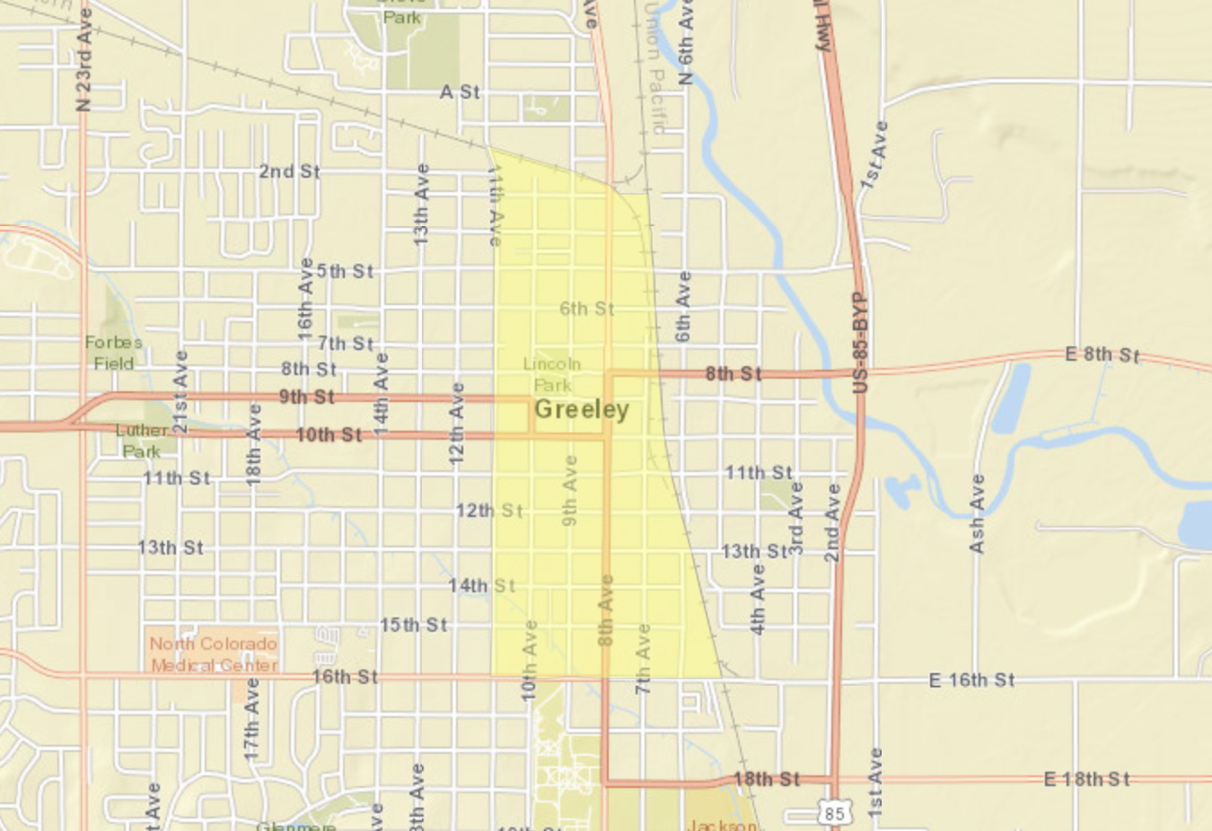Greeley Colorado Opportunity Zones Map.png