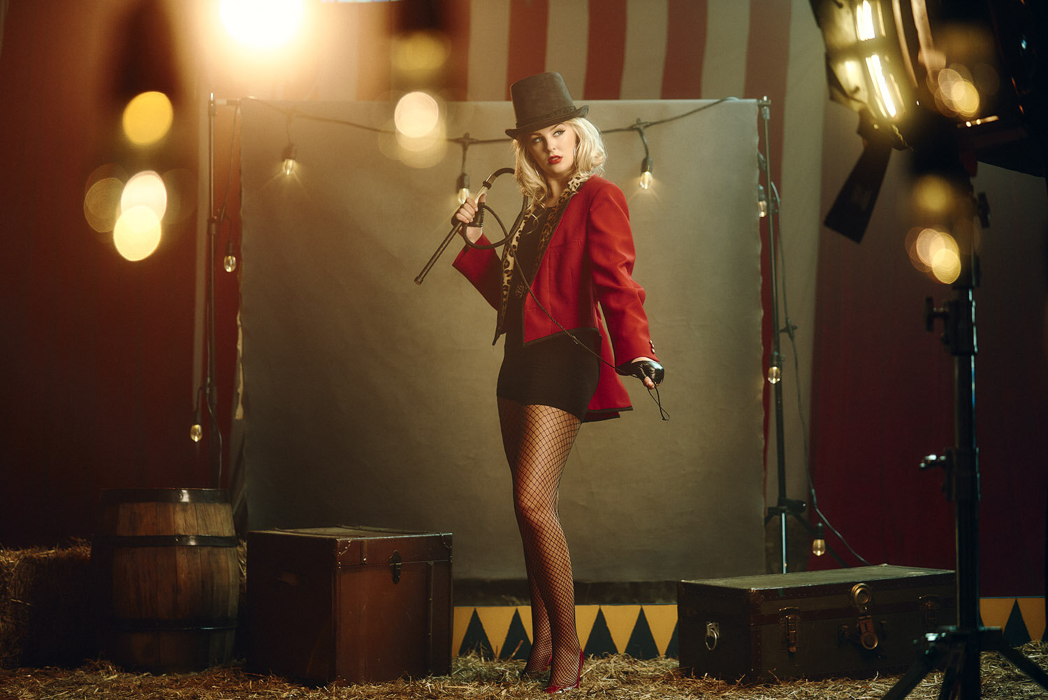 CIRCUS  An updated editorial fashion spin on the circus days of old.
