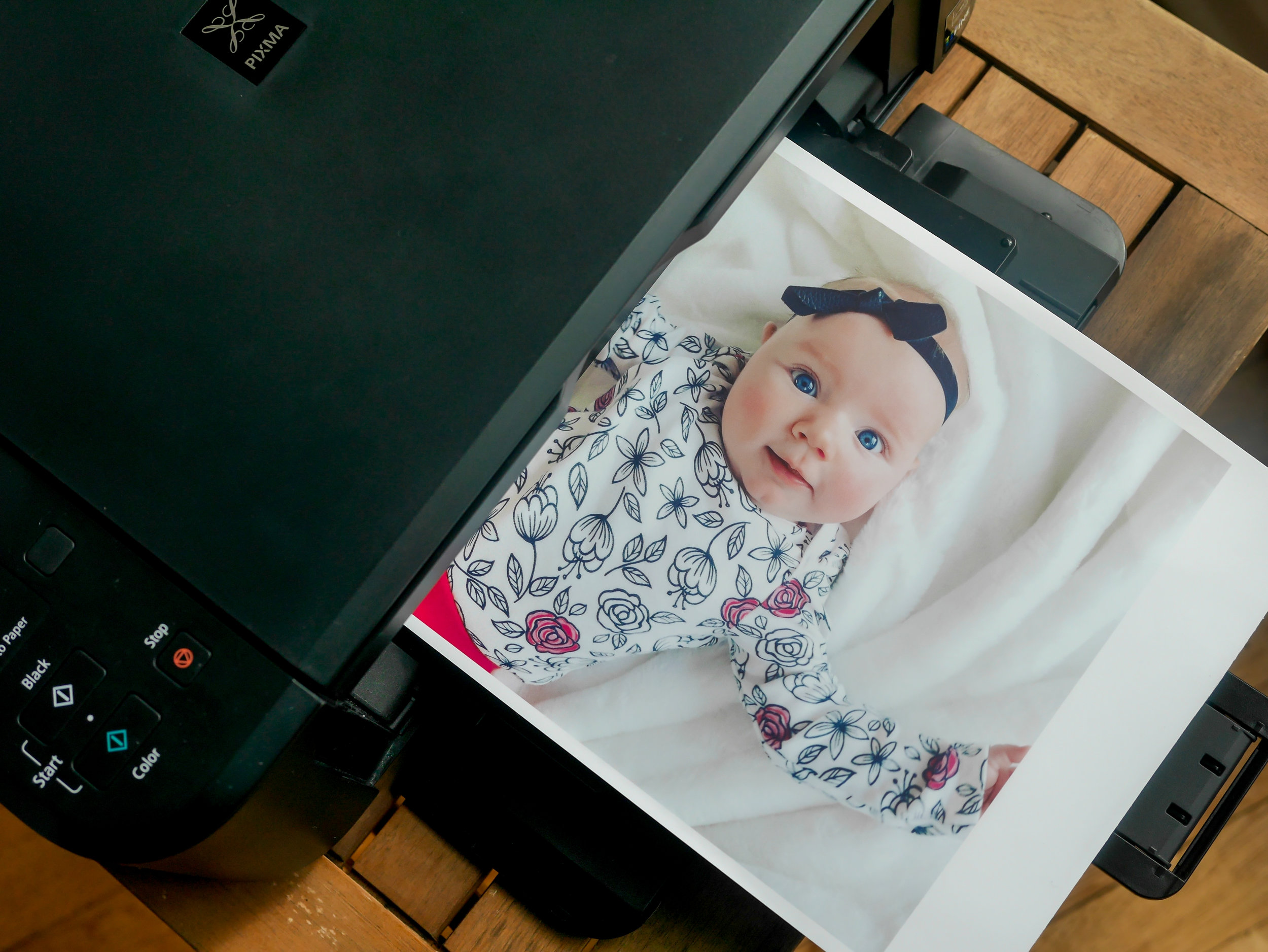 Remember to adjust your printer settings accordingly for gloss or matte photo paper, depending on which you're using.