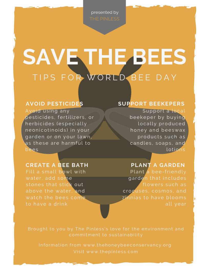 Check out this flyer that outlines some of the best ways to save the bees! Click the link above to download the high quality printable version.