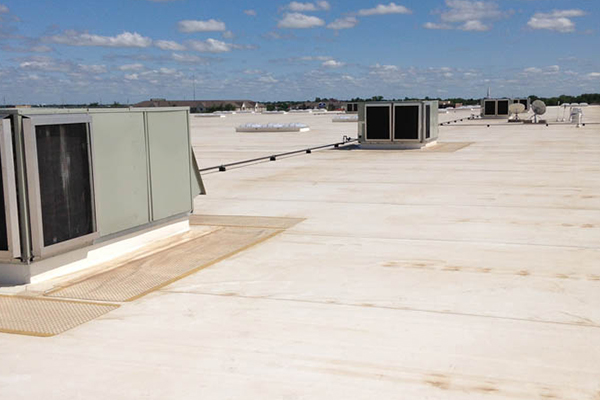 Commercial roofing by Bulldog Roofing & Restoration in Oklahoma City