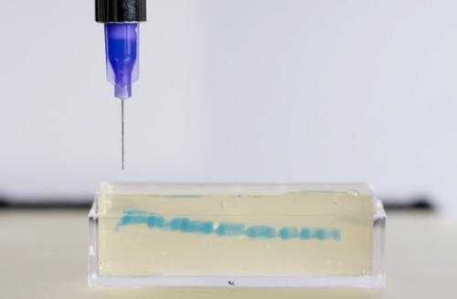 3D Printing gel releasing structure